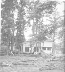 1969年 園舎新築作業
