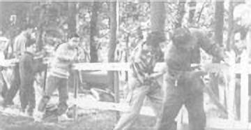 1969年 外周柵づくり
